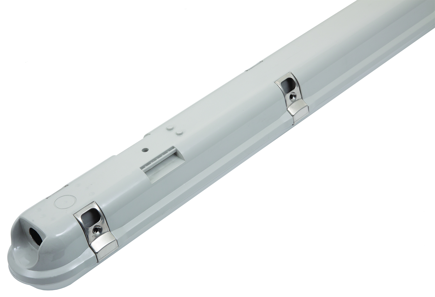 REELTECH IP65 single batten LED linear strip light rear v2