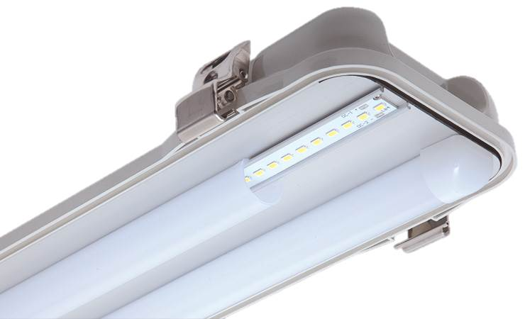REELTECH IP65 twin batten LED linear strip light internal
