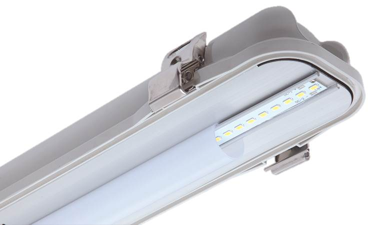 REELTECH IP65 single twin batten LED linear strip light
