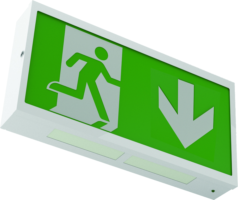 REELTECH LED Surface mounted directional emergency sign