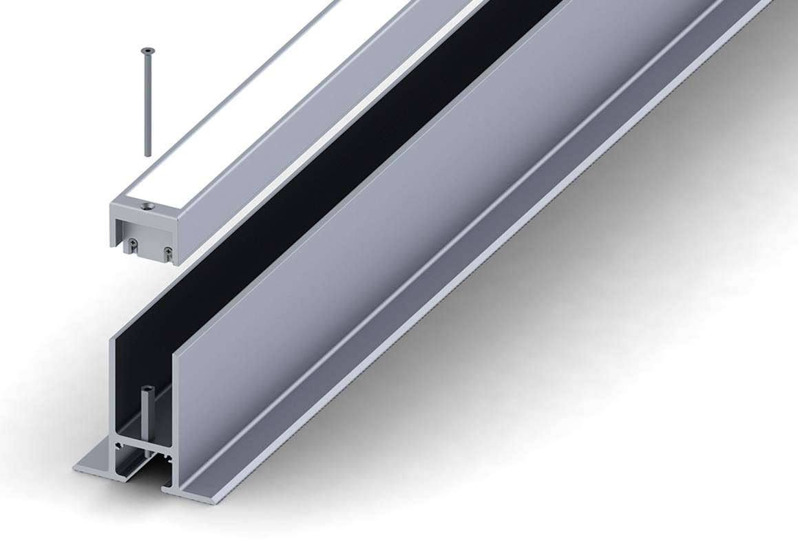 REELTECH IP68 recessed driveway LED strip cross section