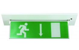 REELTECH LED recessed mounted directional emergency sign