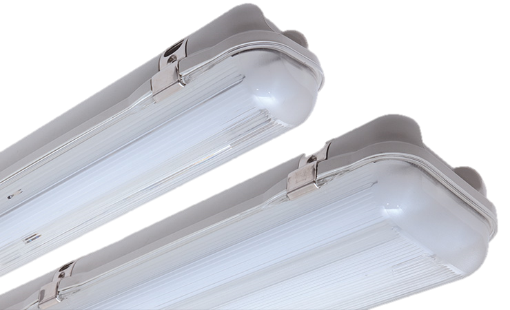 REELTECH IP65 twin and single batten LED linear strip light